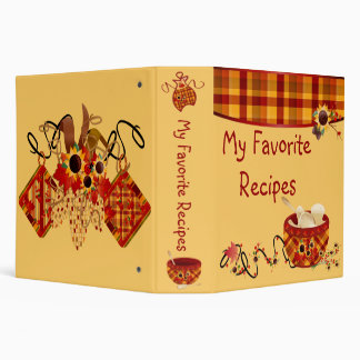 "My Favorite Recipe 2"" Binder"