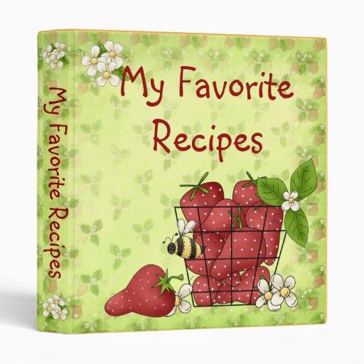 My Favorite Recipe Binder