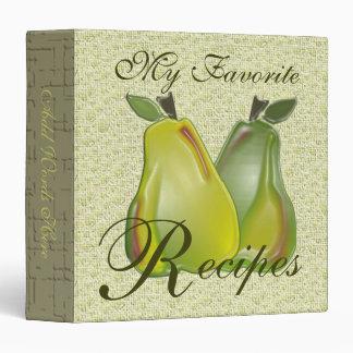 My Favorite Recipes (3D Pears) Binder