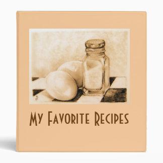 """My Favorite Recipes"" binder"