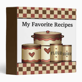 My favorite recipes kitchen binder