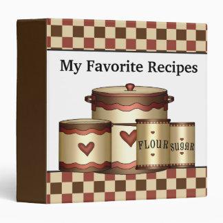 My favorite recipes kitchen binder