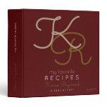 my favorite recipes monogram burgundy binder book