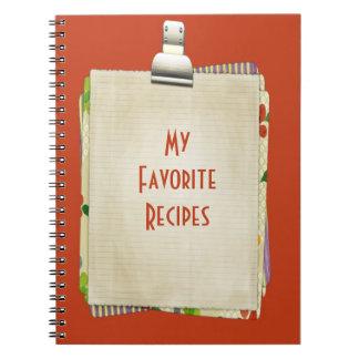 My Favorite Recipes Notebook