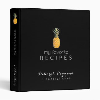 my favorite recipes pineapple black binder book