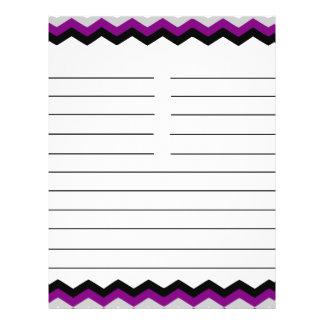 My Favorite Recipes Purple Black Gray Chevron Flyer