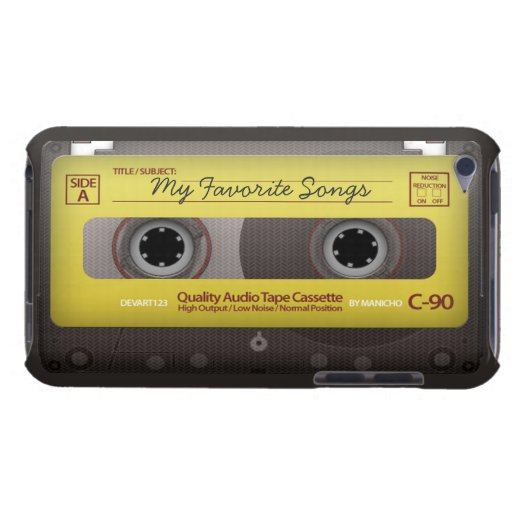My Favorite Songs Cassette Tape Case Cover Case-Mate iPod Touch Case