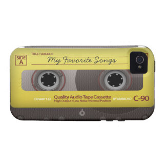 My Favorite Songs Cassette Tape Case Cover iPhone 4 Cover