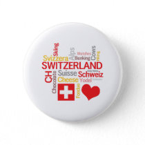 My Favorite Swiss Things Funny Button