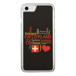 My Favorite Swiss Things Funny Carved iPhone 8/7 Case