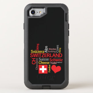 My Favorite Swiss Things Funny OtterBox Defender iPhone 8/7 Case