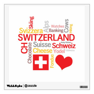 My Favorite Swiss Things Funny Wall Decal