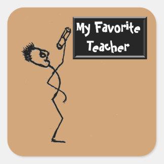 My Favorite Teacher Square Sticker