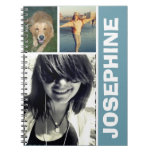 My Favorite Things Blue Photo Collage Journal at Zazzle
