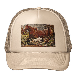 """""""My Favorite Things"""" Cat with Toy Horses Trucker Hat"""