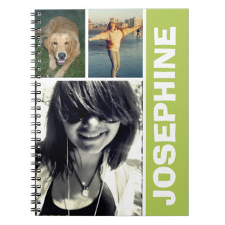 My favorite things green photo collage journal notebooks