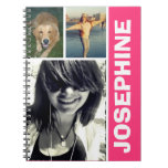 My Favorite Things Hot Pink Photo Collage Journal at Zazzle
