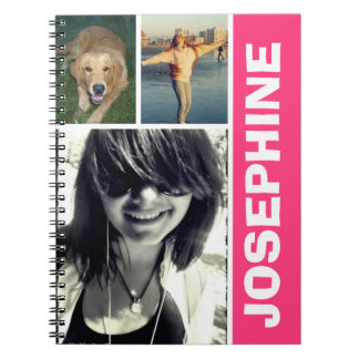 My favorite things hot pink photo collage journal