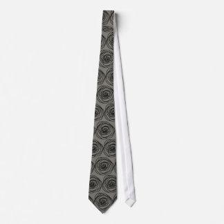My Favorite Tie! Floral Minimalist Grey 'n Black Tie