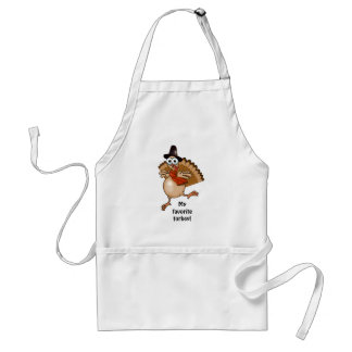 My favorite turkey! Thanksgiving gift apron. Adult Apron