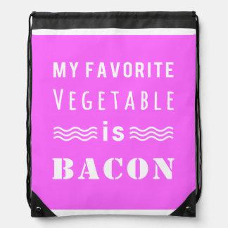 My Favorite Vegetable? Bacon! Drawstring Backpack