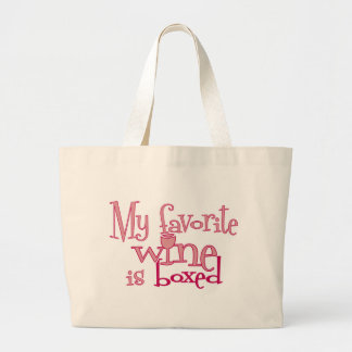 My favorite wine is boxed canvas bag