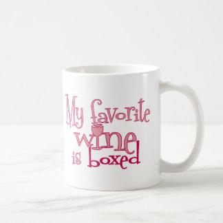 My favorite wine is boxed coffee mug