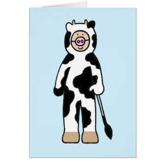 My favourite cowgirl, cow costume. card