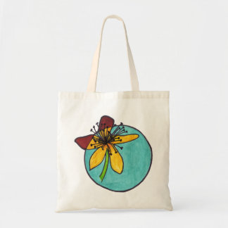 my favourite flowers canvas bags