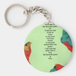 my favourite poem keychain