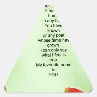 my favourite poem triangle sticker