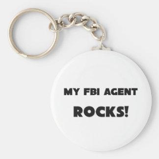 MY Fbi Agent ROCKS! Basic Round Button Keychain