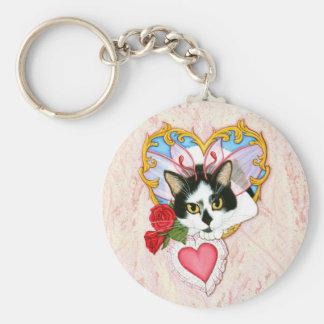 My Feline Valentine Cat Keychain