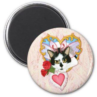 My Feline Valentine Cat Magnet magnet