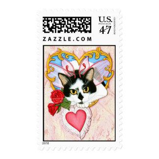 My Feline Valentine Cat Postage
