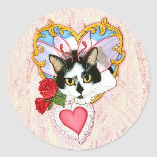 My Feline Valentine Cat Sticker