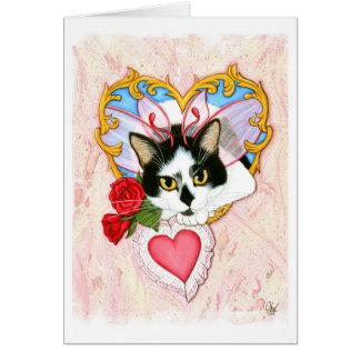 My Feline Valentine Fairy Cat Greeting Card
