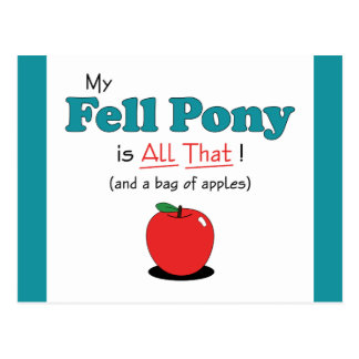 My Fell Pony is All That! Funny Pony Postcards