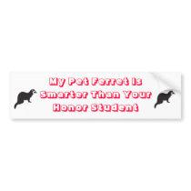 My ferret is smarter bumper sticker