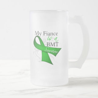 My Fiance is Bone Marrow Transplant Survivor 16 Oz Frosted Glass Beer Mug