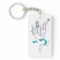 My Fiancée an Angel – Cervical Cancer Keychain