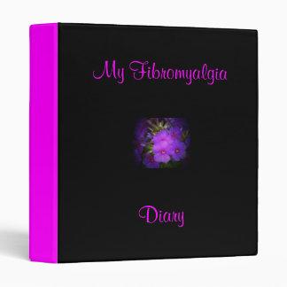 My Fibromyalgia Diary-Binder-Flower Design Binder
