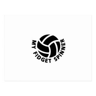 My Fidget Spinner Volleyball Gift  Men Women Coach Postcard