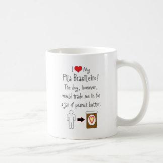 My Fila Brasileiro Loves Peanut Butter Coffee Mug