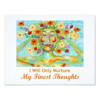 My Finest Thoughts Affirmation Card/Mini Print Card