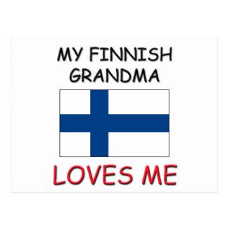 My Finnish Grandma Loves Me Post Card