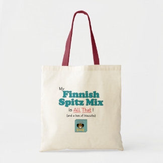 My Finnish Spitz Mix is All That! Tote Bags
