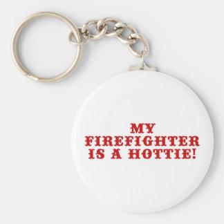 My Firefighter is a Hottie Basic Round Button Keychain