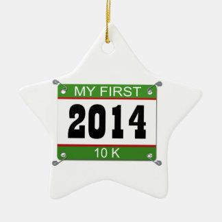 My First 10K - 2014 Ceramic Ornament