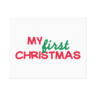 My first 1st christmas gallery wrapped canvas